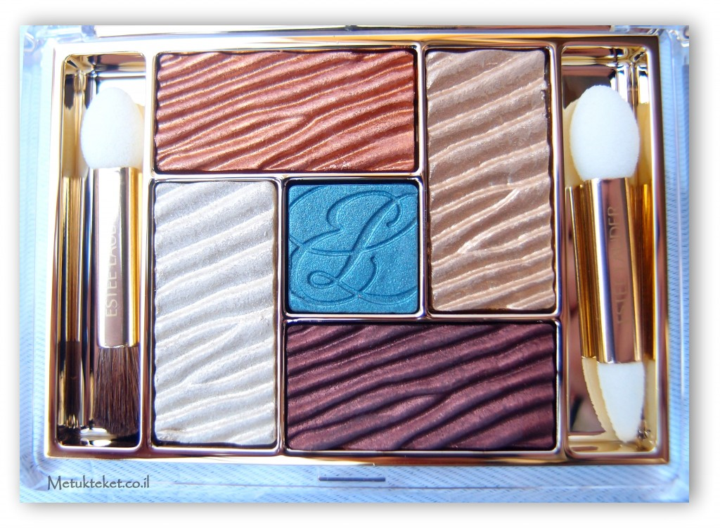 Estée Lauder Pure Color Five Color Gelée Powder EyeShadow Palette 01 Bronze Sands Cyber Metallic צללית מיוחדת של אסתי לאודר