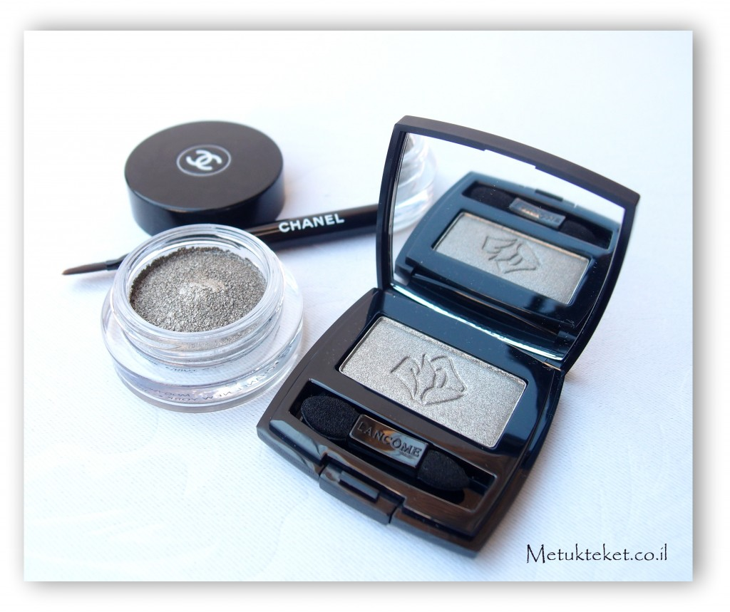 צללית של שאנל, צללית קרם, צללית לנקום, Lancome eye shadow  Erika F ,Chanel - iIlision D'ombre, 84 Epatant, eye shadow, eye cream