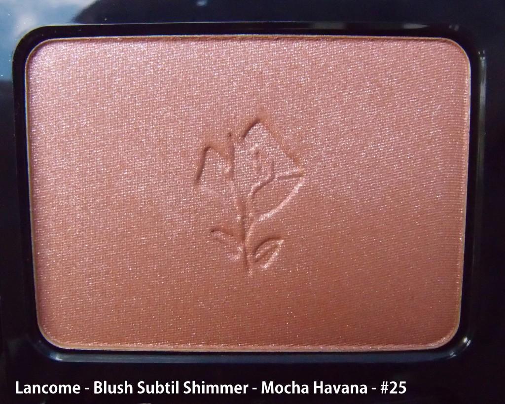 Lancome - Blush Subtil Shimmer - Mocha Havana - #25, סומק לנקום, ברונזר, שימר, שיזוף