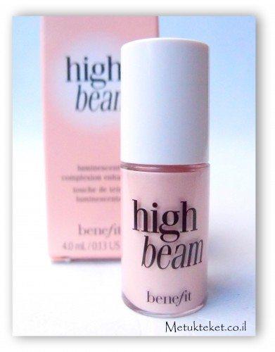 High beem benefit - highlighter, the pretty committee, benefit, בנפיט, קיט בנפיט, ספורה, קניות,היילייטר, שימר, מוצר הארה, shimmer