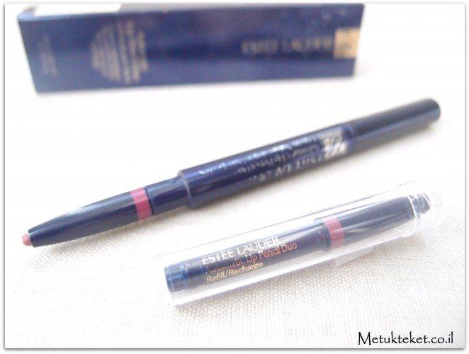 אסתי לאודר, עפרון שפתיים, עפרון ללא חידוד, estee lauder, lip pencil, Automatic lip pencil duo
