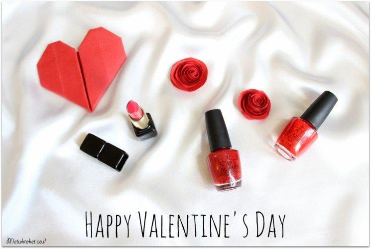 OPI, Guerlain, לק אדום, אודם אדום, יום האהבה, ולנטיין, אדום