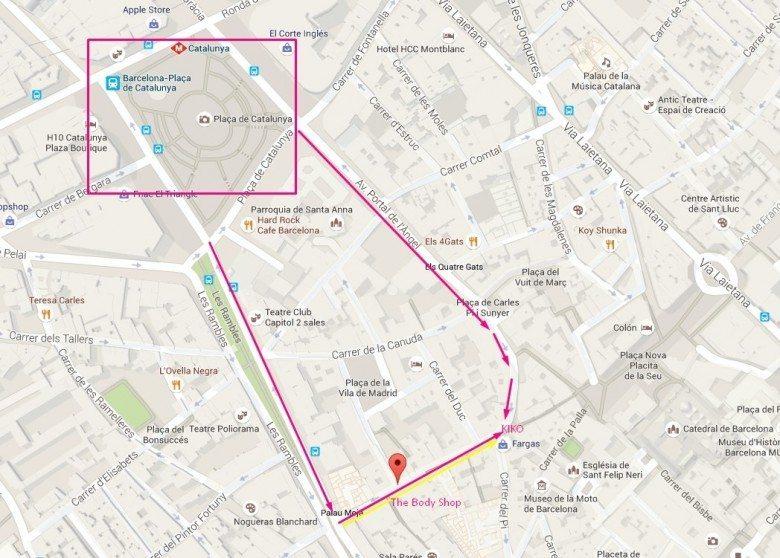 לה פורטה פריסה,  איזור הרובע הגותי El Barrio Gotico