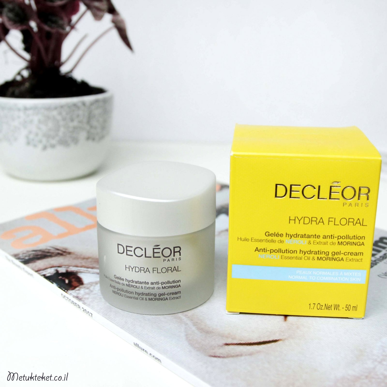 DECLEOR Anti-Pollution hydrating Gel, דקלאור, קרם לחות, ג'ל לחות