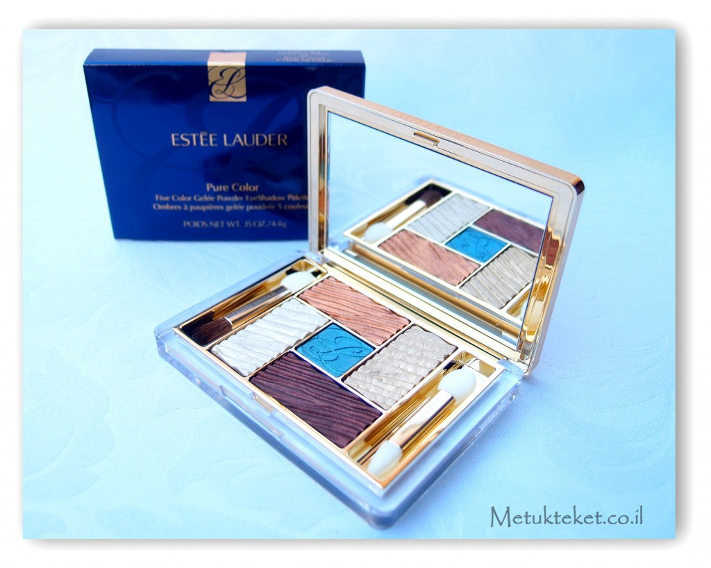 Estée Lauder Pure Color Five Color Gelée Powder EyeShadow Palette 01 Bronze Sands Cyber Metallic  אסתי לאודר