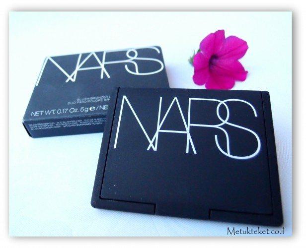 Nars - Blush/Bronzer Duo  נארס - צמד ברונזר/סומק, Orgasm, Casino, Laguna, Sin, סומק ורוד, סומק, אורגזם, לגונה, קזינו, סין