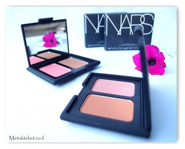 Nars - Blush/Bronzer Duo  נארס - צמד ברונזר/סומק, Orgasm, Casino, Laguna, Sin, סומק ורוד, סומק, אורגזם, לגונה, קזינו, סין