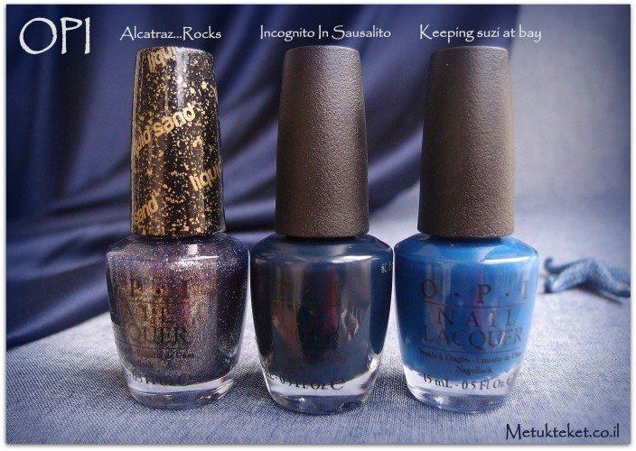 OPI, liquid sand, san fransisco, לק, גימור חול, מחוספס, מבריק, כחול