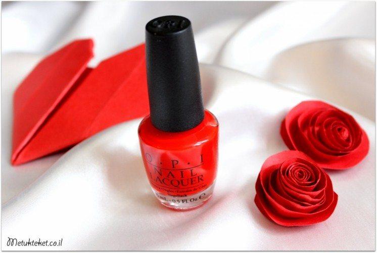 OPI, לק אדום, יום האהבה, ולנטיין, אדום