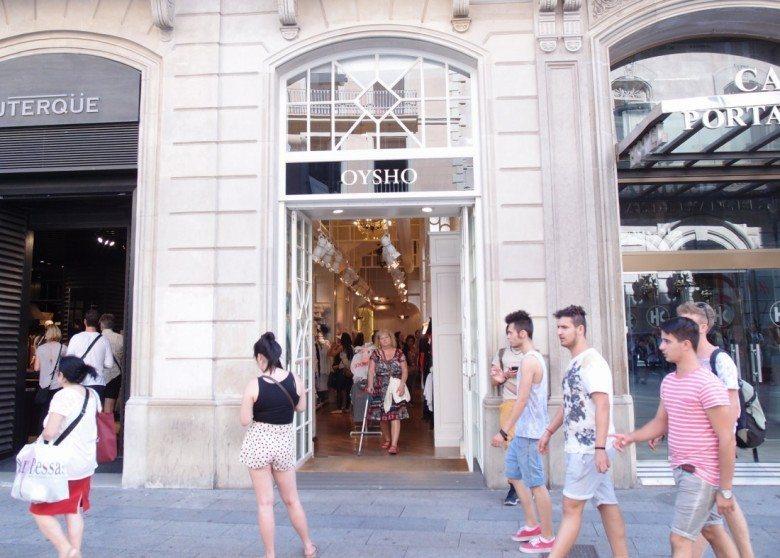 oysho. barcelona, shopping, אוישו, ספרד, ברצלונה