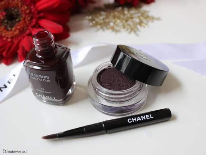 CHANEL Illusion d'Ombre Eyeshadow – 857 Rouge Noir